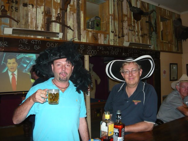 What night out is complete without funny hats?