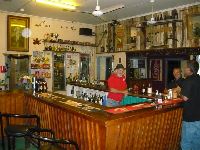 A long shot of the bar