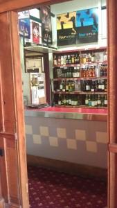 The separate take-away sales bar.